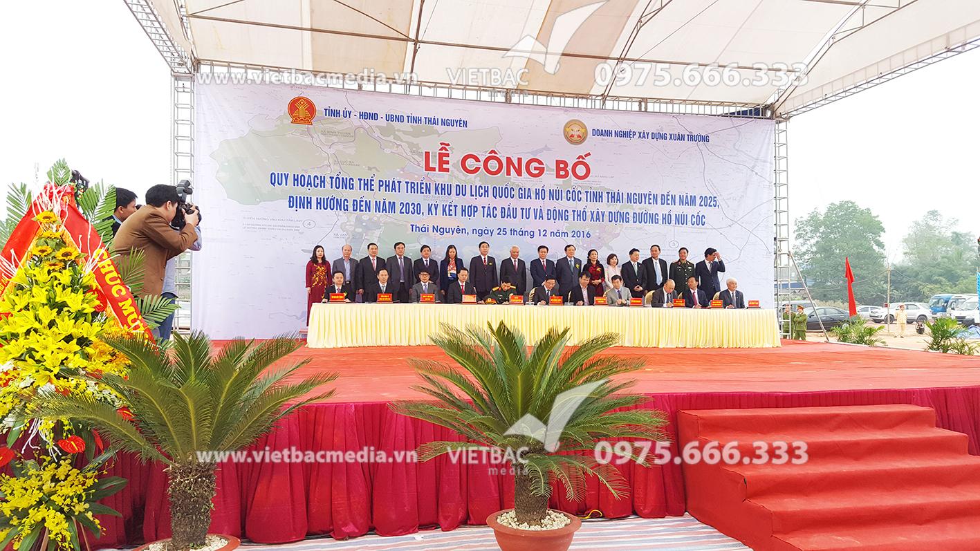 Công Ty Quảng Cáo & Tổ Chức Sự Kiện Việt Bắc tổ chức thành công lễ Công bố quy hoạch tổng thể phát triển Khu du lịch quốc gia hồ Núi Cốc