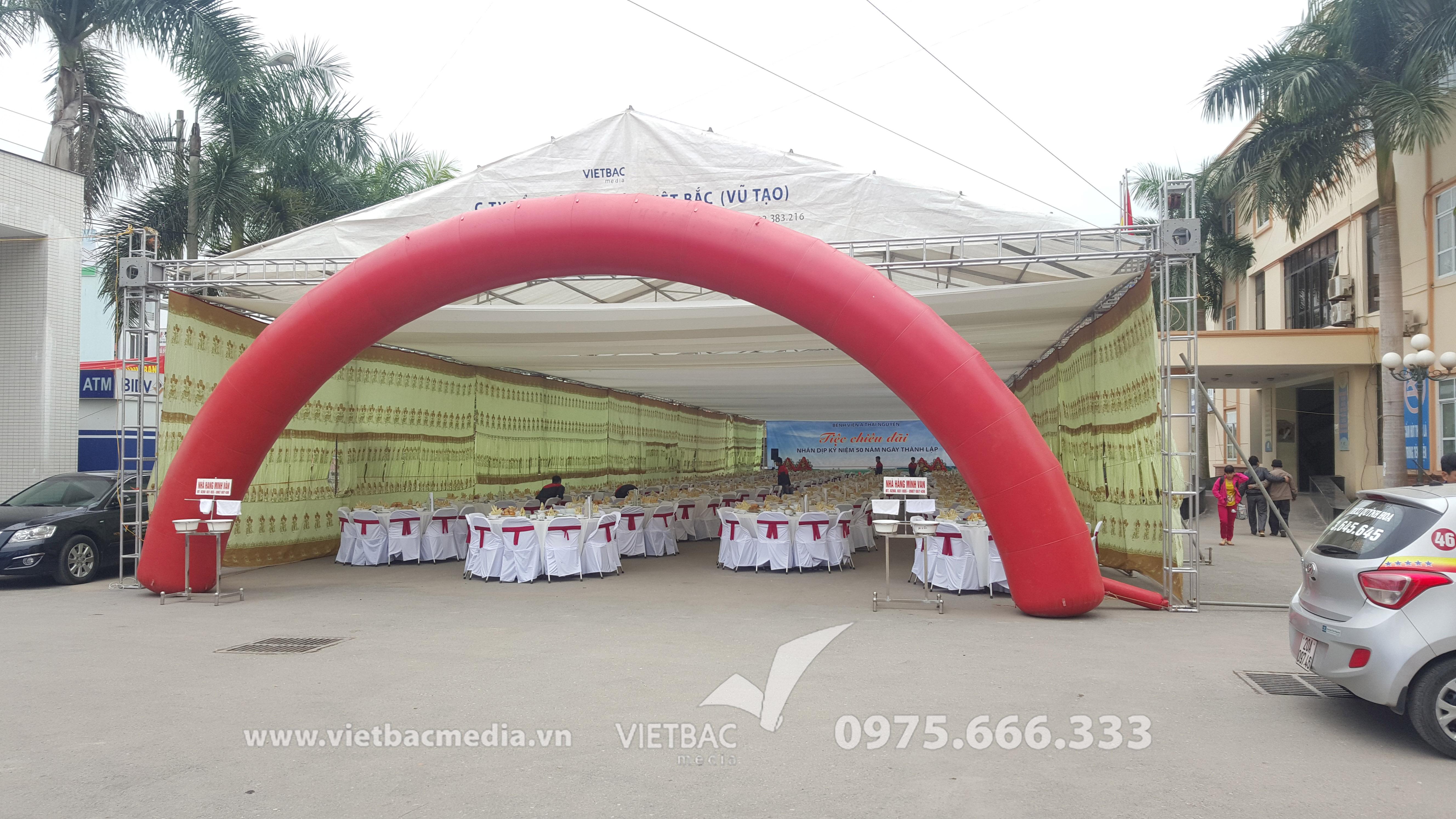 Tiệc chiêu đãi nhân dịp Kỷ niệm 50 năm thành lập Bệnh Viện A Thái Nguyên do Công ty Tổ chức Sự kiện Việt Bắc