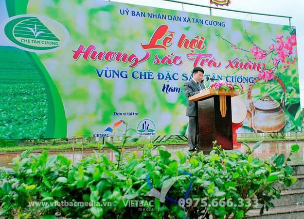 Công Ty Quảng Cáo Và Tổ Chức Sự Kiện Vietbac media tổ chức thành công lễ hội hương sắc trà xuân xã Tân Cương