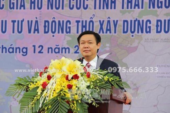 Thủ tướng Chính phủ Vương Đình Huệ tới dự lễ khởi công các dự án xây dựng cấp bách hệ thống chống lũ sông Cầu do Công Ty Quảng Cáo & Tổ Chức Sự Kiện Việt Bắc tổ chức